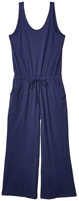 Pact Organic Cotton Jumpsuit (Midnight Navy) Women's Jumpsuit & Rompers One Piece