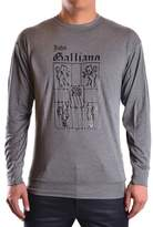 Galliano Men's Grey Cotton T-shirt.