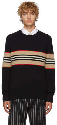 Burberry Black Icon Stripe Sweater