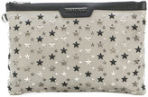 Jimmy Choo star studded clutch bag - women - Leather/Brass - One Size