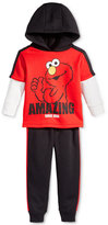 Nannette 2-Pc. Layered-Look Elmo Hoodie & Pants Set, Little Boys (2-7)