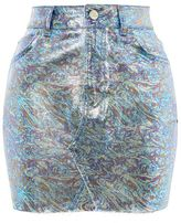Topshop Moto metallic high-waisted skirt