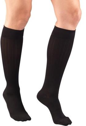 Women's Trouser Socks, Dress Style, Rib Pattern: 15-20 mmHg, Black, Small