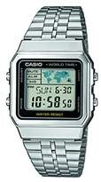 Casio Unisex Collection Digital Watch with Stainless Steel Bracelet A500WEA-1EF
