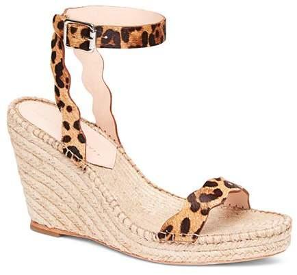 f05580ef2fc Women's Parker Leopard-Print Calf Hair Espadrille Wedge Sandals