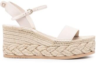 Salvatore Ferragamo Espadrille Wedge Sandals