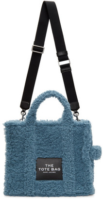 Marc Jacobs Blue Sherpa The Small Traveler Tote