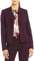 Calvin Klein Petites Scuba Crepe One-Button Seamed Jacket