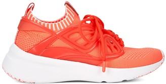 Sophia Webster Fly By neon orange stretch-knit sneakers
