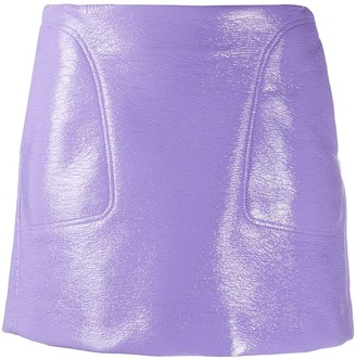 Courreges Leather-Effect Mini Skirt