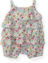 Ralph Lauren Girl Floral Tiered Cotton Shortall