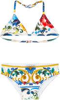 Dolce & Gabbana Printed bikini Maiolica
