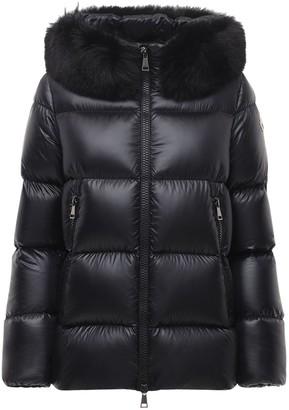Moncler Serifur Nylon Down Jacket W/ Fur