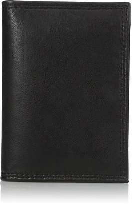 Buxton Men's Emblem-leather Executive Twofold Wallet