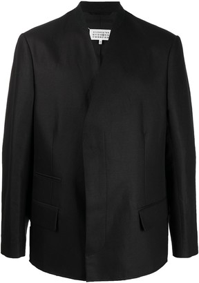 Maison Margiela Collarless Long-Sleeve Blazer