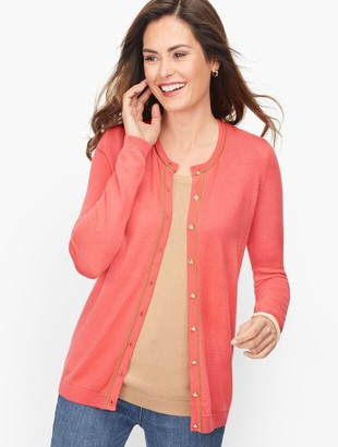 Talbots Charming Cardigan - Tipped