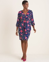 Chico's Chicos Floral Twist-Front Dress