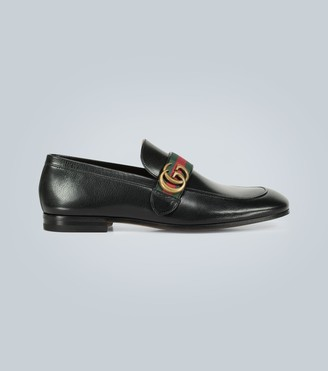 Gucci Leather loafers with GG Web