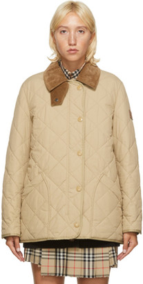 Burberry Beige Quilted Cotswald Jacket