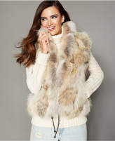 The Fur Vault Natural Coyote Fur Vest