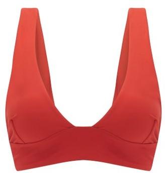 Haight Tie-back Bikini Top - Dark Red