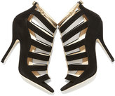 Jimmy Choo Fathom Strappy Cage Bootie, Black/Gold
