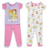 AME Sleepwear Baby's Four-Piece Disney Princess Pajama Set