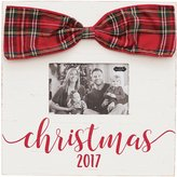 Mud Pie Christmas 2017 Wood Frame with Tartan Bow
