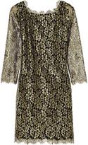 Diane von Furstenberg Zarita metallic lace dress