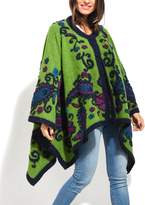 Everest Green Paisley Wool-Blend Cape - Plus Too
