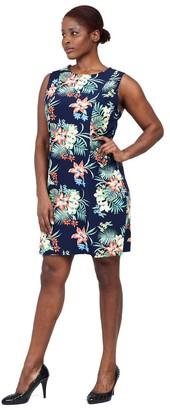 M&Co Izabel Curve tropical shift dress