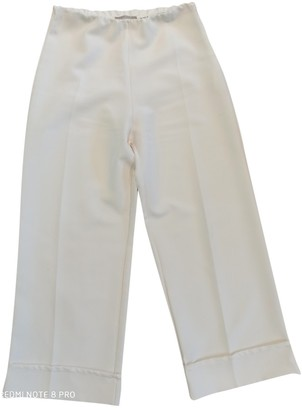 Romeo Gigli White Trousers for Women