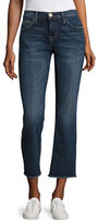 Current Elliott The Kick Raw-Edge Flare Jeans