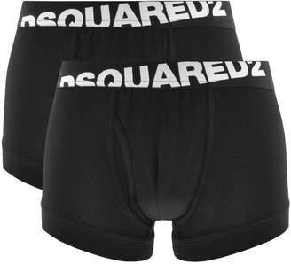 DSQUARED2 Underwear 2 Pack Trunks Black