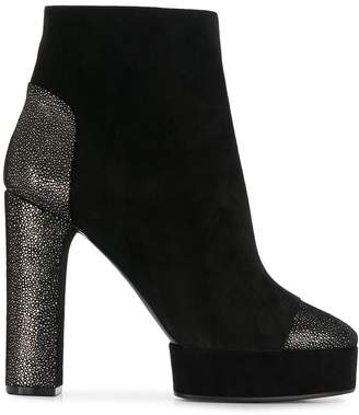 Casadei glitter heel platform boots