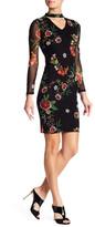 Boulevard Floral Keyhole Mini Dress
