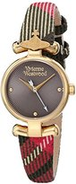 Vivienne Westwood Women's VV090CHBR Maida Analog Display Swiss Quartz Multi-Color Watch