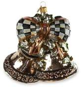 Mackenzie Childs Precious Metal Bells Glass Ornament Set