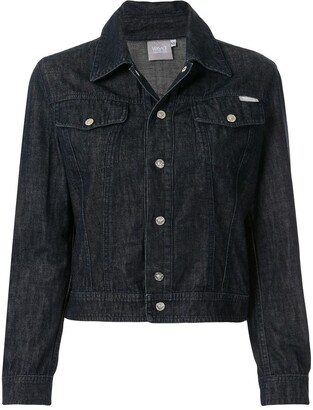 Versace Pre-Owned Cropped Denim Jacket