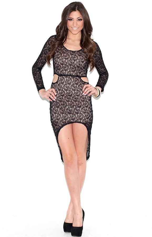West Coast Wardrobe West Coast Wardrobe Lace-y Nights Long Sleeve Dress-SALE!!