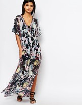 French Connection Evelyn Rose Print Maxi Dress