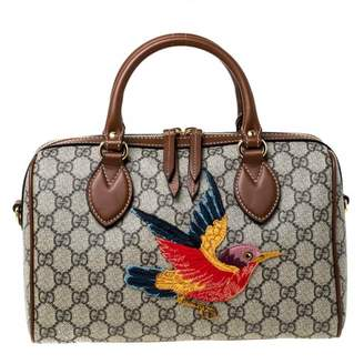 Gucci Boston Beige Cloth Handbags
