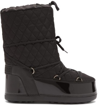 Bogner Tignes Quilted Lace-up Snow Boots - Black