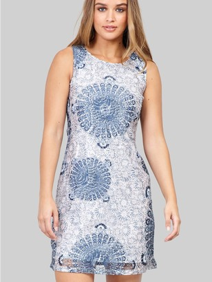 M&Co Izabel eastern print lace shift dress