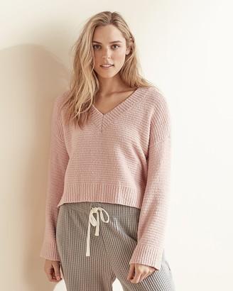 Express Upwest Hi-Lo V-Neck Sweater