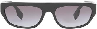 Burberry Eyewear Monogram Rectangular Frame Sunglasses