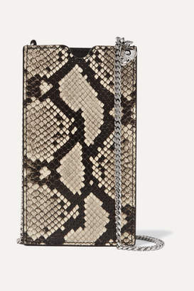 Alexander McQueen Snake-effect Leather Phone Case - Snake print