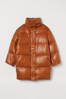 H&M Oversized Down Jacket - Orange