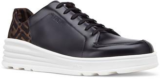 Fendi Men's Logo-Back Chunky Leather Sneakers