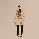 Burberry Cotton Gabardine Trench Coat with Regimental Piping